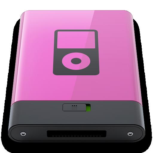 b, ipod, pink icon