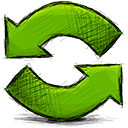 arrow, refresh icon