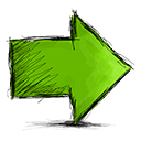 arrow, right icon