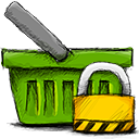 basket, locked icon