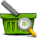 basket, search icon