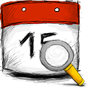 date, search icon