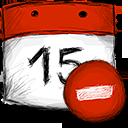 date, delete icon