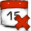 date, deny icon
