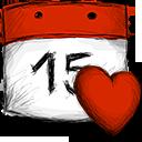date, favourite icon