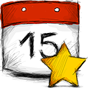 date, starred icon