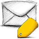 Email, tagged icon