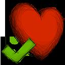 accept, favourite icon