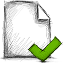 accept, file icon