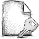file, encrypted icon