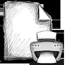 file, print icon