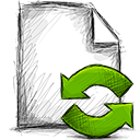 file, refresh icon