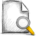 file, search icon