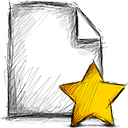 file, starred icon