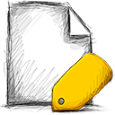 file, tagged icon