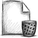 file, trash icon