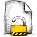file, unlocked icon