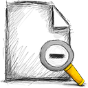 file, out, zoom icon