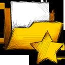 folder, starred icon