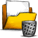 folder, trash icon