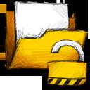 folder, unlocked