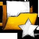 folder, unstarred icon