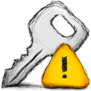 error, key icon
