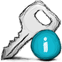 key, info