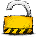 lock, padlock, unlocked icon