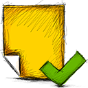 accept, note icon