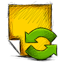 note, refresh icon
