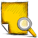 note, search icon