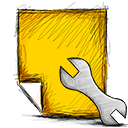 note, settings icon