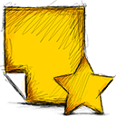 note, starred icon