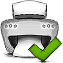 accept, printer icon