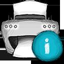 info, printer icon