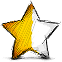 half, left, star icon