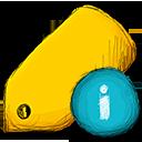 info, tag icon