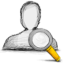 search, user icon