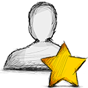 starred, user icon