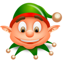 christmas, elf icon