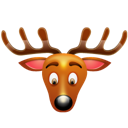 christmas, reindeer icon