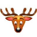 christmas, reindeer icon