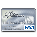 platinum, visa icon