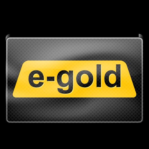 e, gold icon
