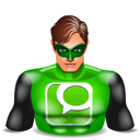 greenlantern, super hero, technorati icon