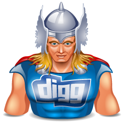 digg, super hero, thor icon