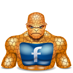 facebook, super hero, thing icon