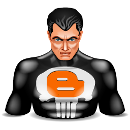blogger, punisher, super hero icon