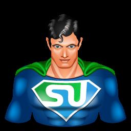 stumbleupon, super hero, superman icon